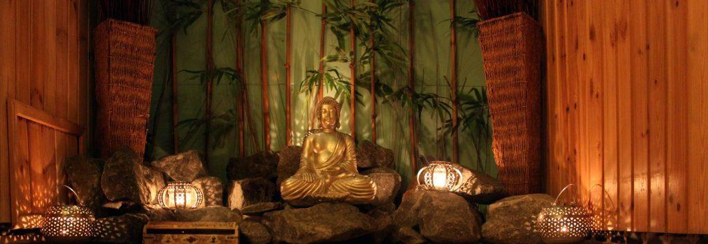 massagesalon met buddha